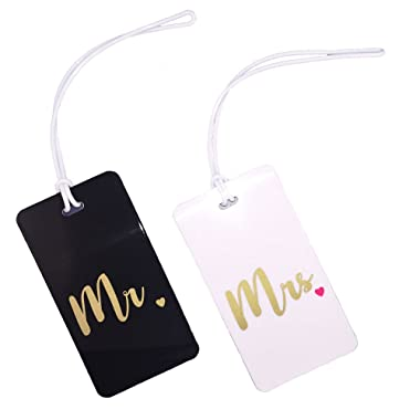 Mr & Mrs Luggage Tag 2pc Gift Set