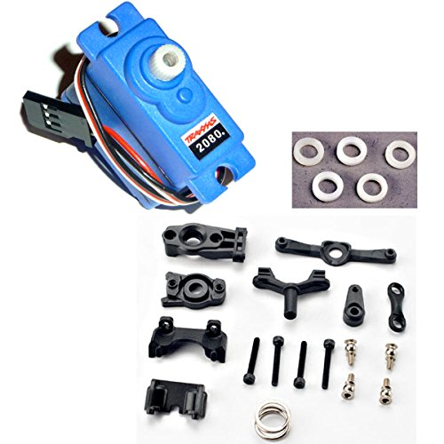 Traxxas 1/16 E-Revo VXL * 2080 WP SERVO, BELLCRANK, STEERING LINKAGE, SERVO SAVE (Bellcrank Bushings Traxxas)