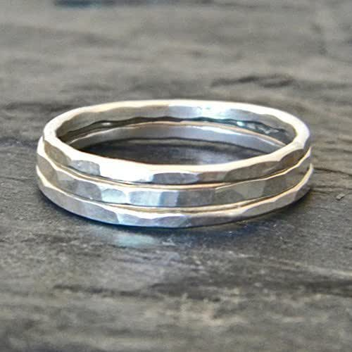 Amazon.com: Silver Rings, Stacking Ring, Sterling Silver