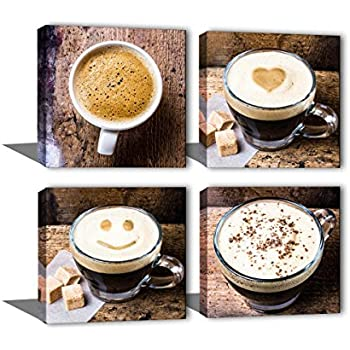 Amazon Com Noah Art Contemporary Coffee Cup Wall Decor Canvas