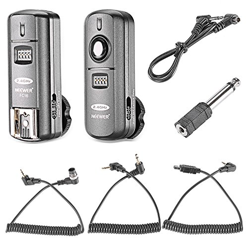 Neewer FC-16 Multi-Channel 2.4GHz 3-IN-1 Wireless Flash/Studio Flash Trigger with Remote Shutter for Nikon D7100 D7000 D5100 D5000 D3200 D3100 D600 D90 D800E D800 D700 D300S D300 D200 D4 D3S D3X D2Xs by Neewer