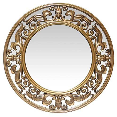 Infinity Instruments Victoria 23.5 Inch Brushed Gold Wall Mirror Review