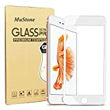 MuStone Screen Protectors for iPhone 7 plus iPhone 8 plus, 3D Full Screen Frame Edge to Edge Tempered Glass Edge for iPhone 7 Plus 8 Plus Tempered Glass Screen Protectors 5.5'' (White)