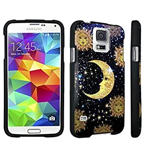 DuroCase ? Samsung Galaxy S5 Hard Case Black - (Moon Stars Sun)
