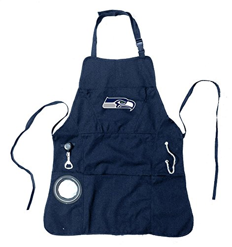 Team Sports America Ultimate NFL Tailgate Grilling Apron, Seattle -