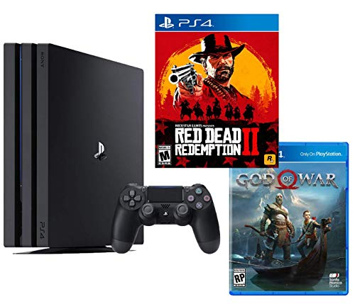 PlayStation 4 PRO Red Dead God of War Bundle: RED Dead Redemption 2, God of War and PlayStation 4 PRO 4K HDR 1TB Console