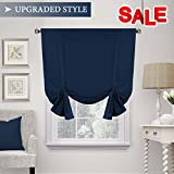 H.VERSAILTEX Thermal Insulated Blackout Tie up Curtain, Room Darkening Window Shade (Rod Pocket Panel for Small Window) – 42″ Wide by 63″ Long – Solid in Navy from Review