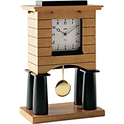 Alessi Mantel Clock Pendulum Clock In Maple Veneered Wood