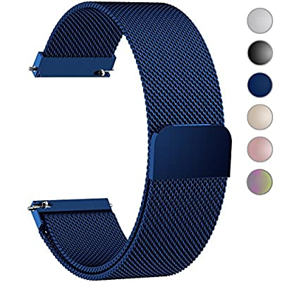 6 Colors for Quick Release Watch Strap, Fullmosa Milanese Magnetic Closure Stainless Steel Watch Band Replacement Strap for 16mm 18mm 20mm 22mm 23mm 24mm by Fullmosa