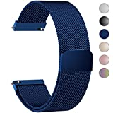 6 Colors for Quick Release Watch Strap, Fullmosa Milanese Magnetic Closure Stainless Steel Watch Band Replacement Strap for 18mm Blue