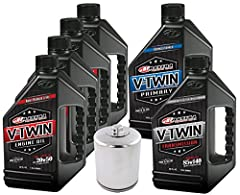 Maxima V-Twin Full Synthetic is an ester based full synthetic motorcycle oil engineered and approved to be used as a multi-compartment oil for H-D V-Twin engines, transmissions and primaries. Surface-active ester technology lowers operating t...