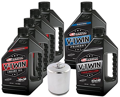 MaximaHiflofiltro VTTOCK15 Complete Engine Oil Change Kit for V-Twin Full Synthetic Harley Davidson Twin Cam, 6 Quart ()