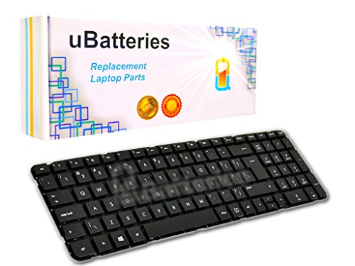 UBatteries Compatible Laptop Keyboard Replacement For HP Pavilion G6-2000 699497-001 700271-001 697452-001 673613-001 2B-04801Q121 R36 681800-001 LKB-HC34BNF - (Black, No Frame, Large Enter Key Style) ()