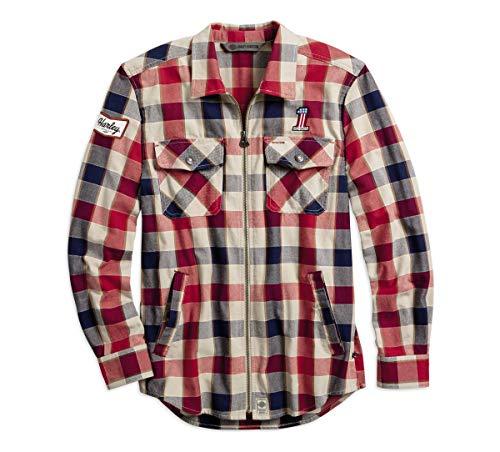 Harley-Davidson Men's #1 Plaid Zippered Shirt (Large)