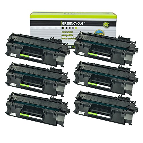 GREENCYCLE Compatible Toner Cartridge Replacement For Canon 120 (2617B001AA) High Yield(6,900 Pages) for Canon imageCLASS D1120 D1320 D1350 D1150 D1180 D1170 D1370 Series (Black,6 Pack)