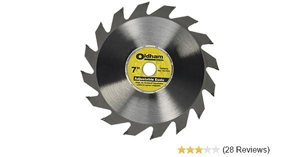 Porter cable 7005012 oldham 7 in adjustable dado blade circular porter cable 7005012 oldham 7 in adjustable dado blade circular saw blades amazon greentooth Choice Image