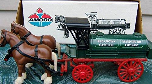 ERTL AMOCO GAS & OIL HORSE-DRAWN Tank Wagon Truck #9563 Bank in Diecast Metal