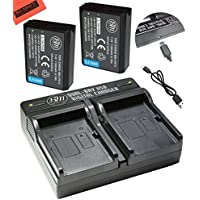 BM Premium Pack of 2 LP-E10 Batteries and USB Dual Battery Charger Kit for Canon EOS Rebel T3, T5, T6, T7, Kiss X50, Kiss X70, EOS 1100D, EOS 1200D, EOS 1300D, EOS 2000D Digital Camera
