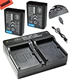 BM Premium Pack of 2 LP-E10 Batteries and USB Dual Battery Charger Kit for Canon EOS Rebel T3, T5, T6, Kiss X50, Kiss X70, EOS 1100D, EOS 1200D, EOS 1300D Digital Camera
