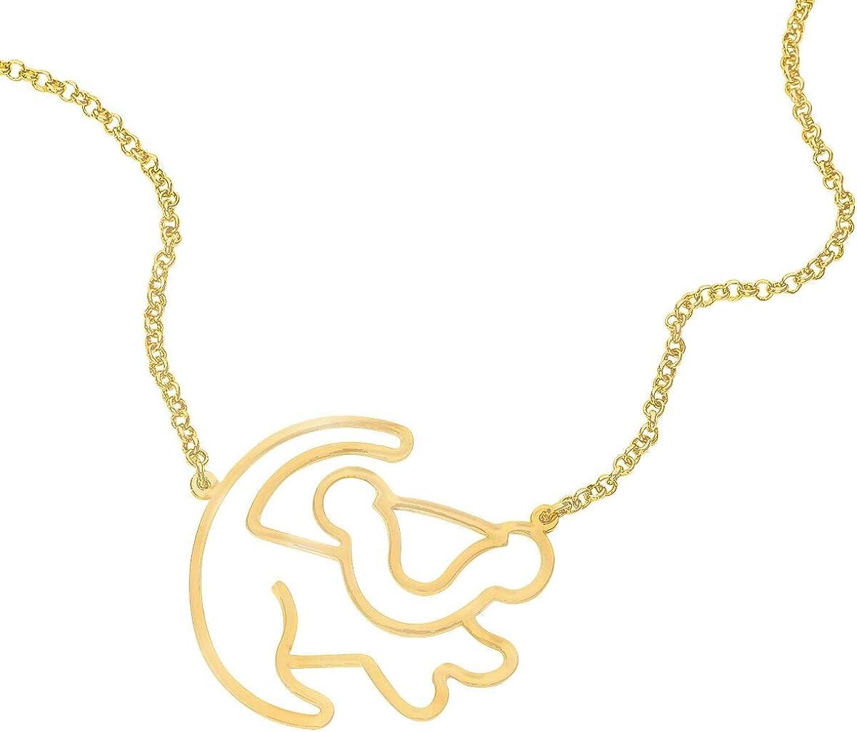 Simba Collier Couleur Or Der K/önig der L/öwen Le Roi Lion Disney by Couture Kingdom