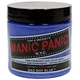 Manic Panic Semi-permanent Hair Color Cream, Bad Boy Blue