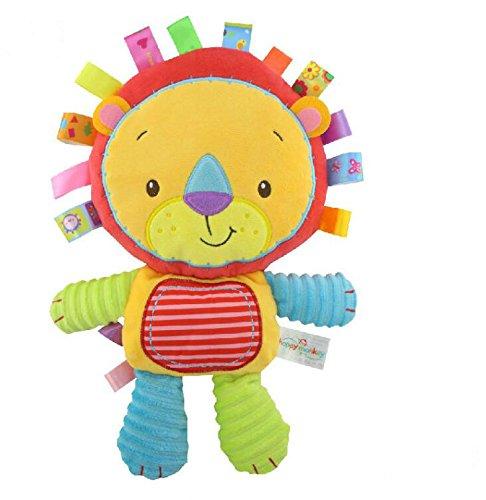 YOIL Schöne Kleinkind Baby Tröster Spielzeug Tröster Spielzeug Baumwolle Handtuch Handpuppe Plüsch Lion Toy_Colorful