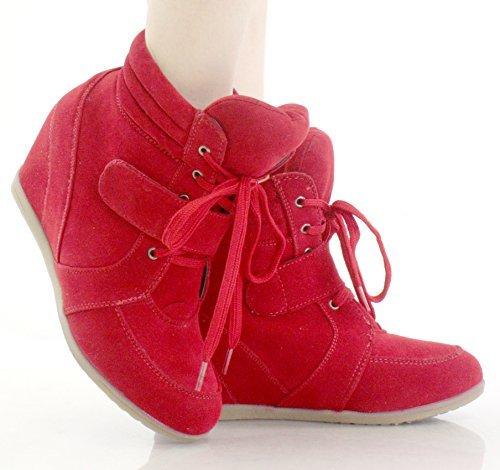 9b93fd893d1 Reneeze BEATA-02 Womens Wedge Sneaker Booties