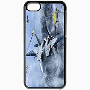 Personalized iPhone 5C Cell phone Case/Cover Skin Art Aircraft Fighters In The Sky Flight Battle Black by supermalls