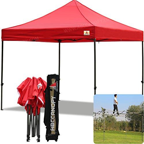 ABCCANOPY (18+Colors Pop Up Canopy 10 X 10-feet Commercial Instant Canopy Kit Ez Pop up Tent,Bonus Carrying Bag (Red)