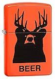 zippo outdoor utility lighter - Zippo Beer Bear Neon Orange Pocket Lighter