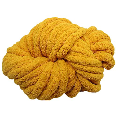 250g Jumbo Chenille Chunky Knit Yarn Chunky Knit Yarn Mustard Chunky Knit Chenile Yarn,Chenille,Arm Knit,Arm Knitting,Giant Bulky Knit Yarn