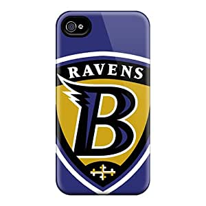 Iphone 4/4s FUY3014WTOS Unique Design Stylish Baltimore Ravens Image Scratch Resistant Hard Phone Cases -ChristopherWalsh