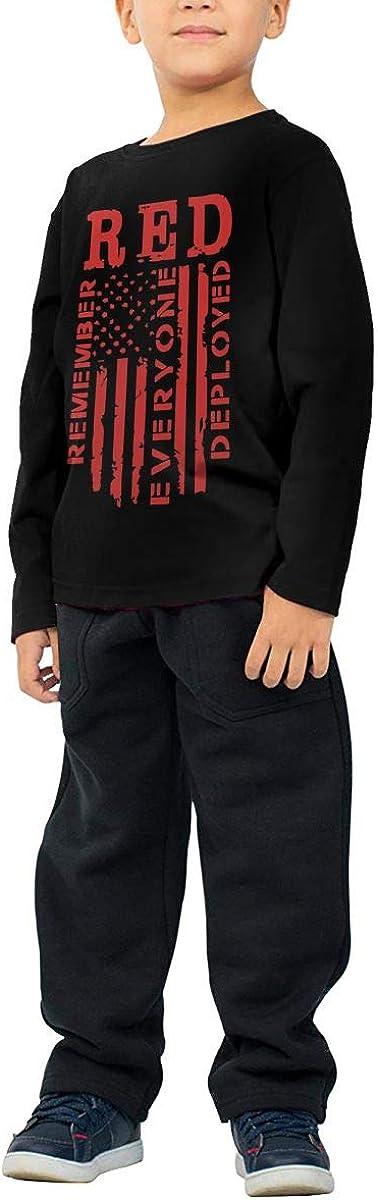 CERTONGCXTS Baby Girls Kids Remember Everyone Deployed ComfortSoft Long Sleeve Shirt