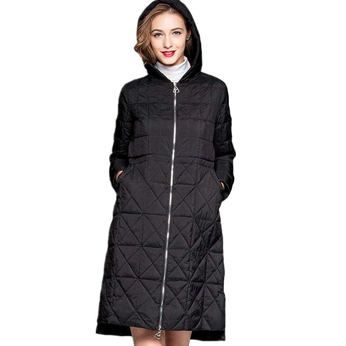 YZ-HOD Chaqueta de abajo Abrigo de mujer Abrigo de pato blanco Abajo Mantener cálido, ligero Diseño delgado con capucha: Amazon.es: Ropa y accesorios