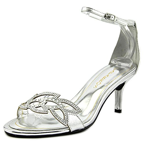 Caparros Womens Cabaret Open Toe Special Occasion Ankle Strap Sandals Silver Metallic yzpVVzV