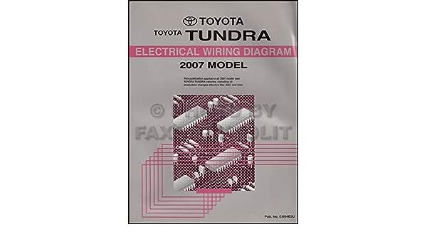 2007 Toyota Tundra Wiring Diagram Manual Original S