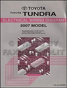2007 toyota tundra wiring diagram manual original toyota amazon 2007 Tundra Engine Diagram 2007 toyota tundra wiring diagram manual original toyota amazon com books