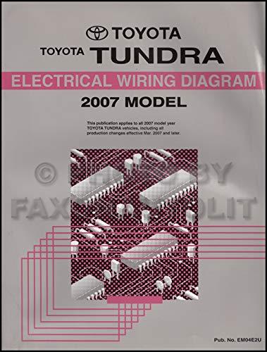 2007 Toyota Tundra Wiring Diagram Manual Original Paperback