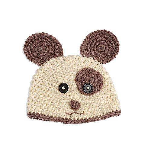 Unisex Baby Hand Crocheted Doggie Hat & Bootie Set