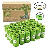 PET N PET Poop Bags Biodegradable, 24 Rolls/360 Bags Dog Waste Bags, Unscented, Leak-Proof, Easy Tear-Off