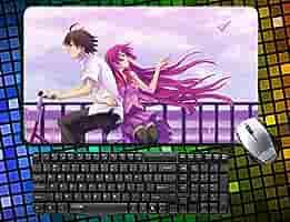 Bakemonogatari grande ratón, 60 cmx35 cm Anime Mousepad escritorio ...