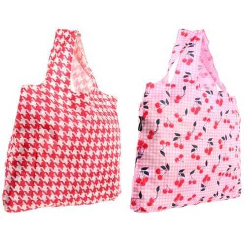 Envirosax Lane Reusable Shopping Bags, Cherry, Set of 2 Envirosax Red Bag