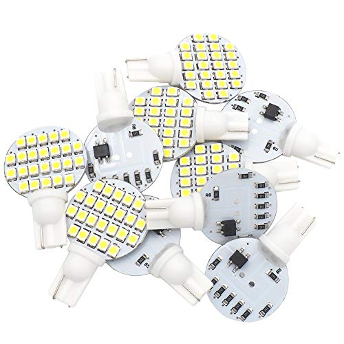 (GRV T10 921 194 24-3528 SMD LED Bulb lamp Super Bright DC 12V Pack of 10)