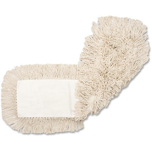 Genuine Joe GJO18500CT Disposable Cotton Dustmop Refill, 18''X5'', 12Ea/Ct, Natural (Pack of 12)