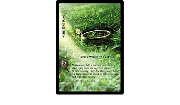 LoTR TCG RotK Return of The King The One Ring Such A Weight To Carry 7R2