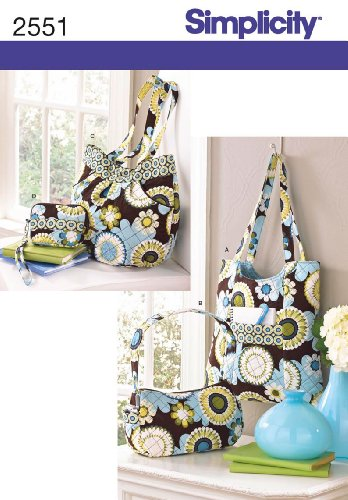 Simplicity Sewing Pattern 2551 Accessories, One Size (Bag Quilted Patterns)