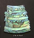 FidgetFidget Ukulele Rosette Paua Abalone Solid Curved Strips