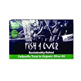 Fish 4 Ever Yellowfin Tuna in Organic Olive Oil 120g (pack of 5)