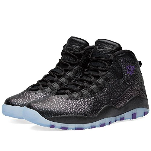 best wholesaler 2b19e 235b1 nike air jordan retro 10 mens hi top basketball trainers 310805 sneakers  shoes (US 9.5 , black firece purple black 018)