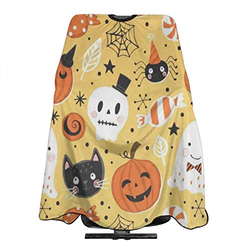 Halloween Holiday Salon Hair Cut Hairdressing Hairdresser Waterproof Barbers Cape Gown Haircut Apron Dyeing Styling Cloth for Adult/Women/Men